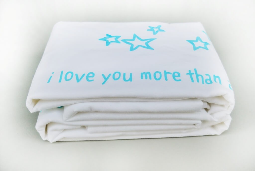 "זוג צפיות ""love you more then all the stars"" טורקיז"