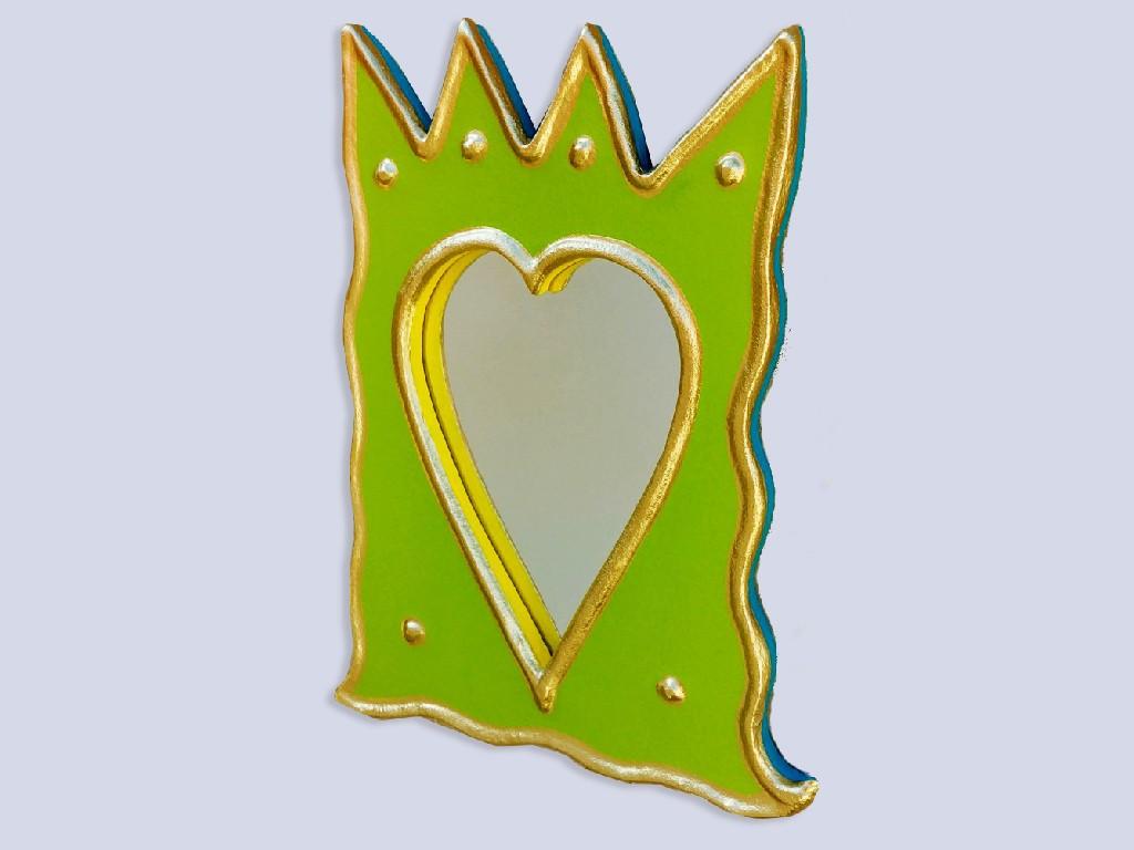 מראת כתר לב ירוקה