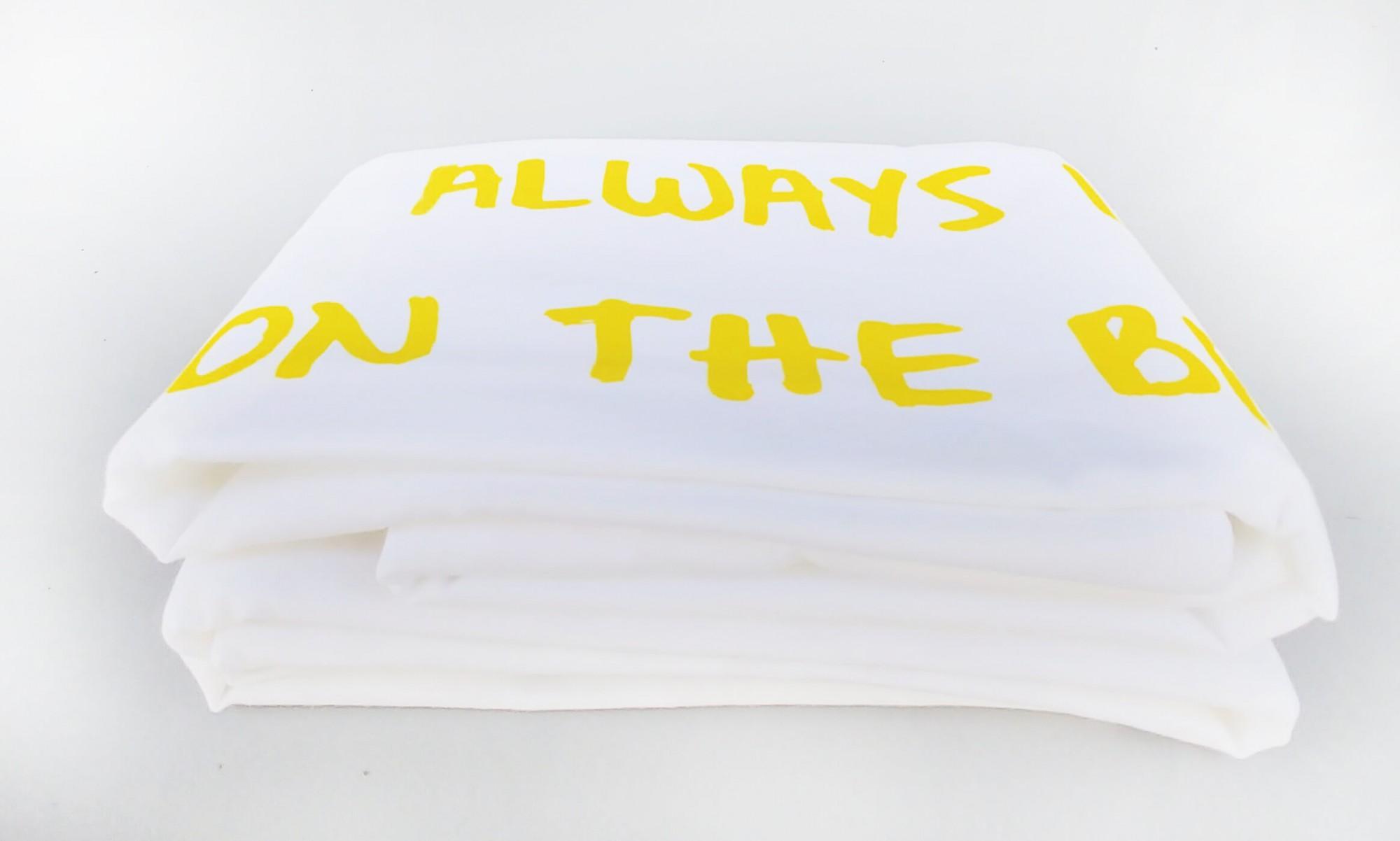 """זוג ציפיות """"ALWAYS LOOK ON THE BRIGHT SIDE OF LIFE, צהוב"""