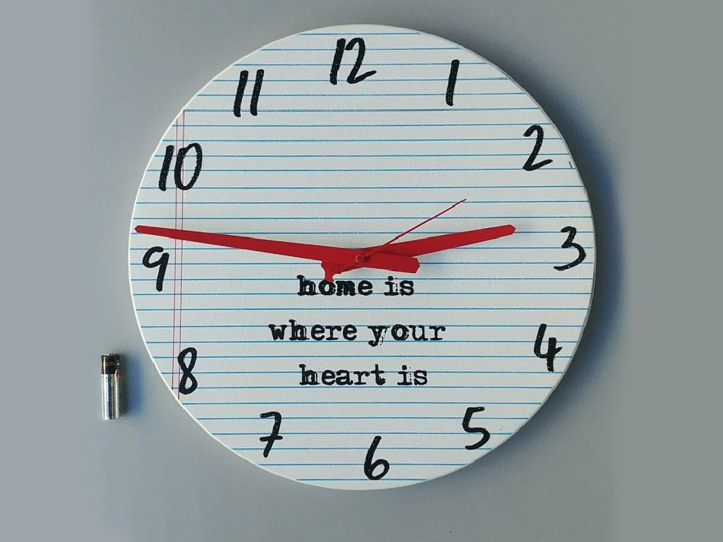 שעון עגול home is
