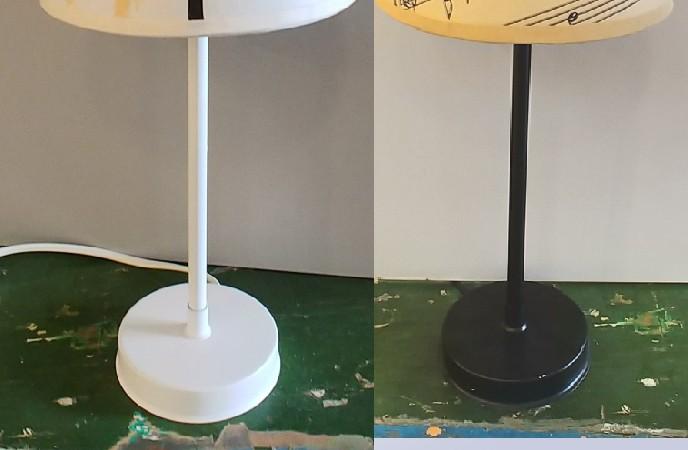 מנורת שולחן על רגל