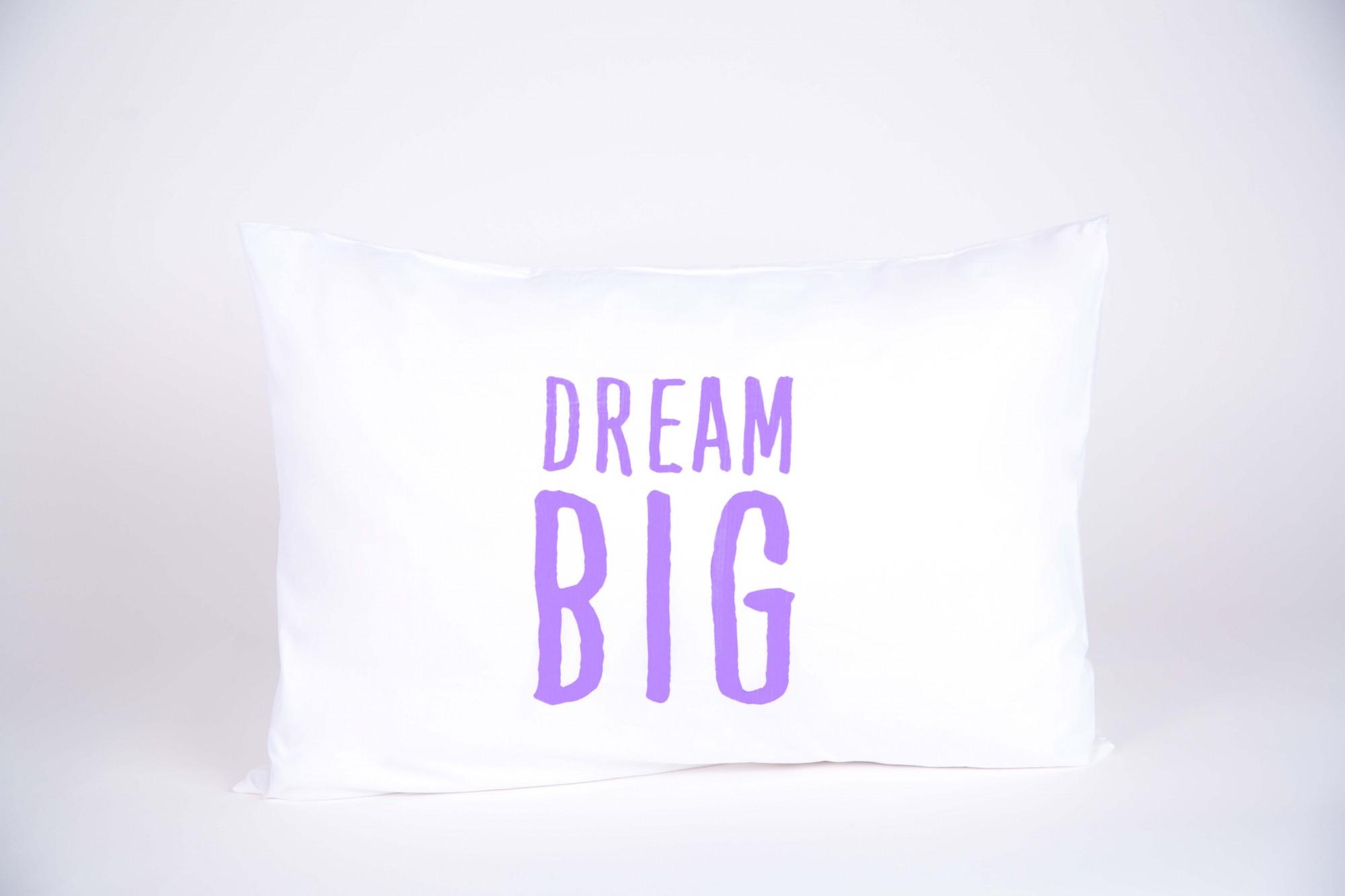 """זוג ציפיות """"DREAM BIG"""" סגול"""