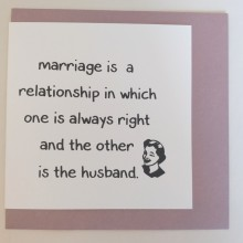 ... marriage is