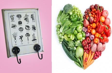מתלה מודפס מספר לימוד תזונה ישן
