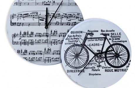 שעונים עגולים מודפסים במבחר דוגמאות