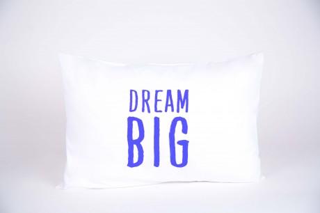 """זוג ציפיות """"DREAM BIG"""" כחול"""